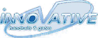 A logo for Innovative Handrails and Gates